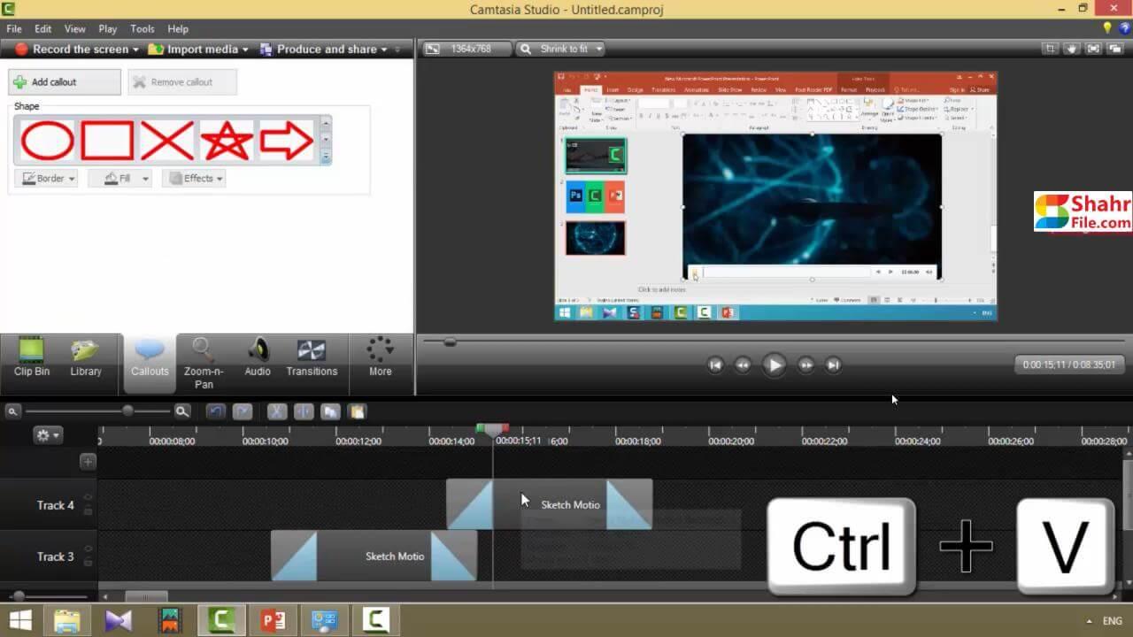 آموزش Camtasia آموزش تولید محتوا آموزش تدوین به همراه پشتیبانی